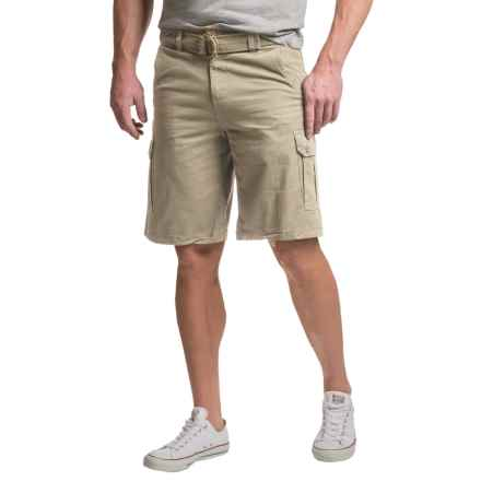 Visitor Belted Cargo Shorts (For Men) in Stone - Closeouts