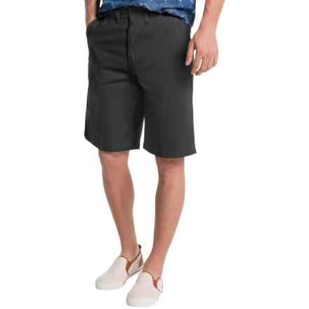Visitor Cotton Shorts (For Men) in Black - Closeouts