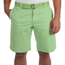 Visitor Double Cinch Belt Shorts (For Men) in Mint - Closeouts