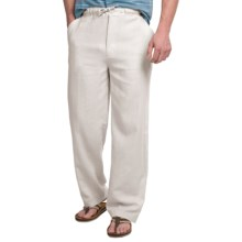 Visitor Linen Lounge Pants (For Men) in White - Closeouts