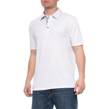 dc957ff1 Visitor Modal-Poly Polo Shirt - Short Sleeve (For Men) in White