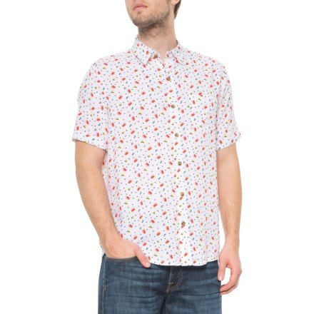 469b7aacd99e9 Visitor Party Cup Print Shirt - Button Front, Short Sleeve (For Men) in