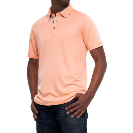Visitor Pique Polo Shirt - Short Sleeve (For Men) in Peach - Overstock