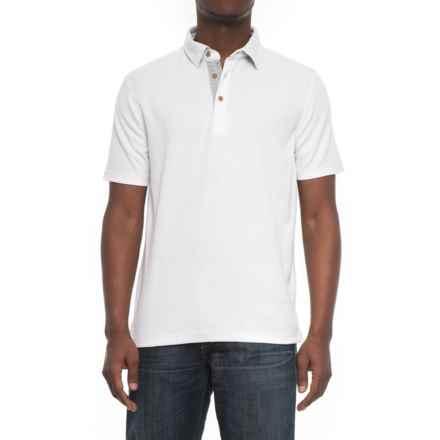 Visitor Pique Polo Shirt - Short Sleeve (For Men) in White - Overstock