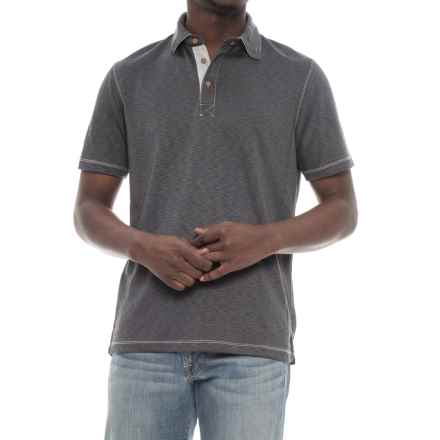 Visitor Polo Shirt - Modal, Short Sleeve (For Men) in Charcoal - Overstock