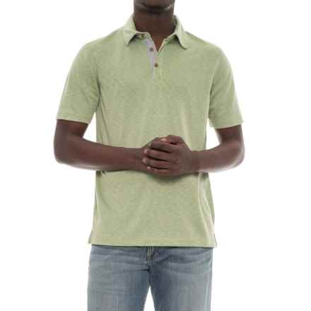Visitor Polo Shirt - Modal, Short Sleeve (For Men) in Light Green - Overstock