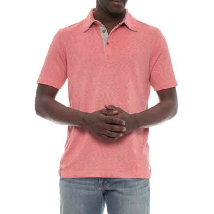 Visitor Polo Shirt - Modal, Short Sleeve (For Men) in Washed Red - Overstock