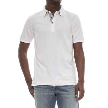 Visitor Polo Shirt - Modal, Short Sleeve (For Men) in White - Overstock