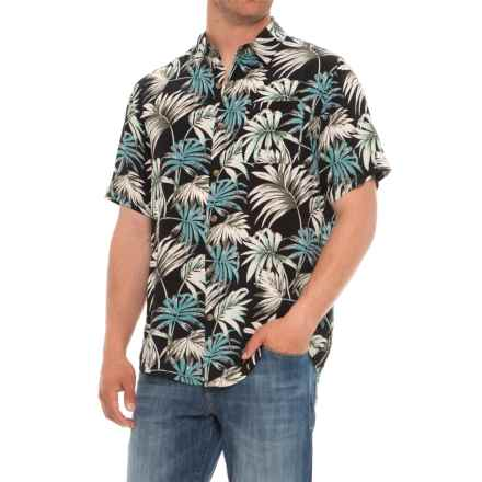 Visitor Printed Shirt - Short Sleeve (For Men) in Floral/Caviar - Overstock