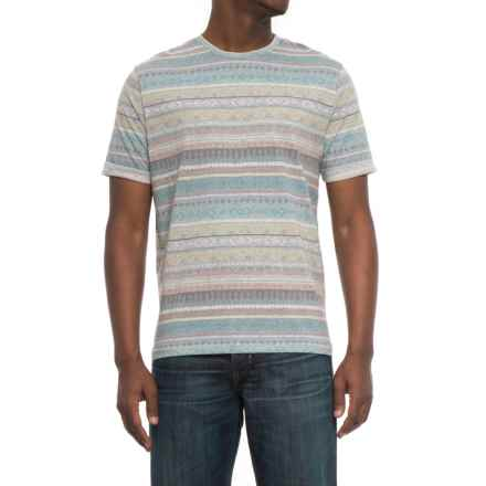 Visitor Southwest Stripe T-Shirt - Short Sleeve (For Men) in Grey - Overstock