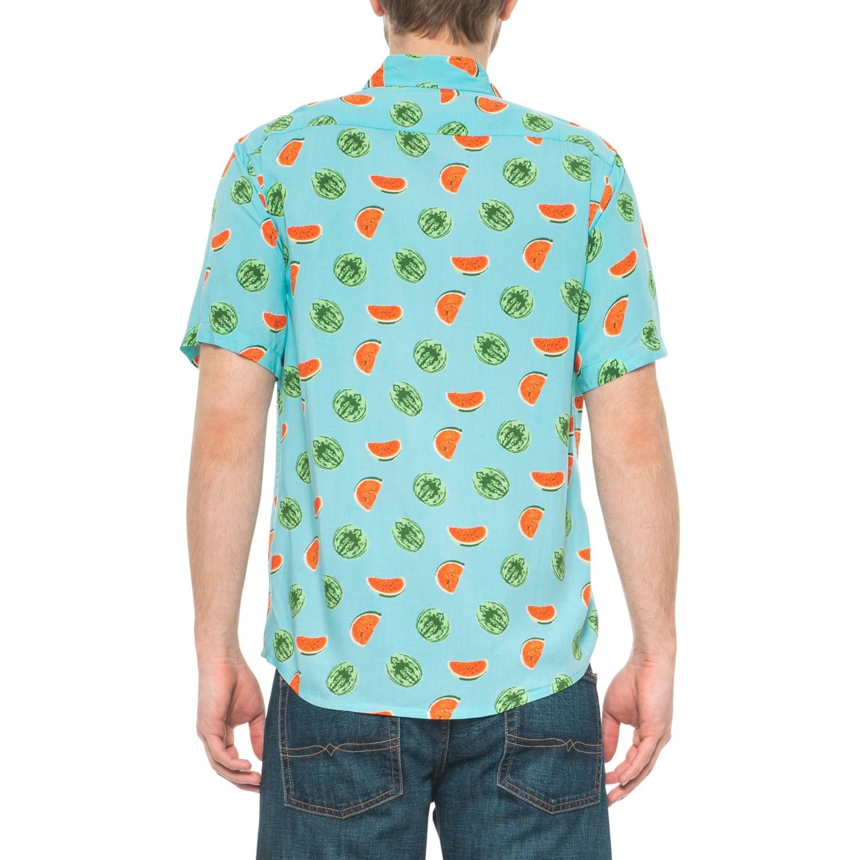 64034d217 Visitor Watermelon Print Shirt - Button Front, Short Sleeve (For Men)