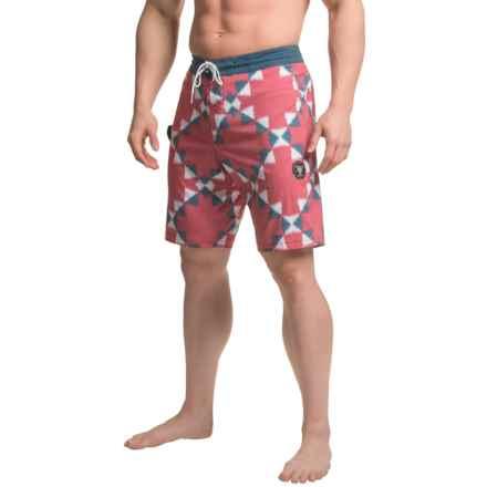 Vissla Destination Boardshorts (For Men) in Red - Closeouts