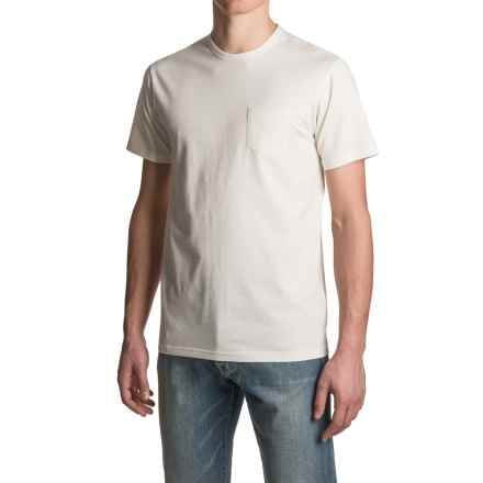 Vissla Jetty T-Shirt - Organic Cotton, Short Sleeve (For Men) in Vintage White - Closeouts