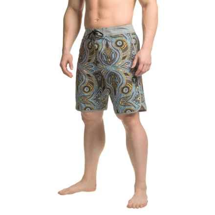 Vissla Mystery Reef Boardshorts (For Men) in Dark Brown - Closeouts