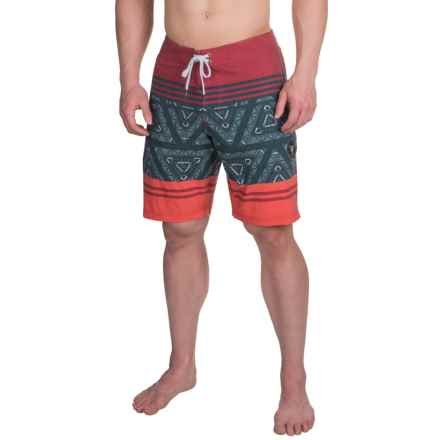 Vissla Sinner Point Boardshorts (For Men) in Red - Closeouts