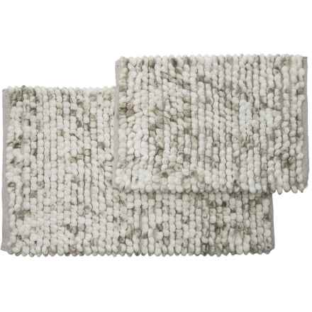 """Vista Home Fashions Adelaide Space-Dyed Microfiber Bath Rug Set - 21x34"""", 17x24"""" in Alloy Grey - Closeouts"""