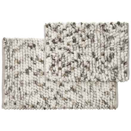 """Vista Home Fashions Adelaide Space-Dyed Microfiber Bath Rug Set - 21x34"""", 17x24"""" in Grey - Closeouts"""