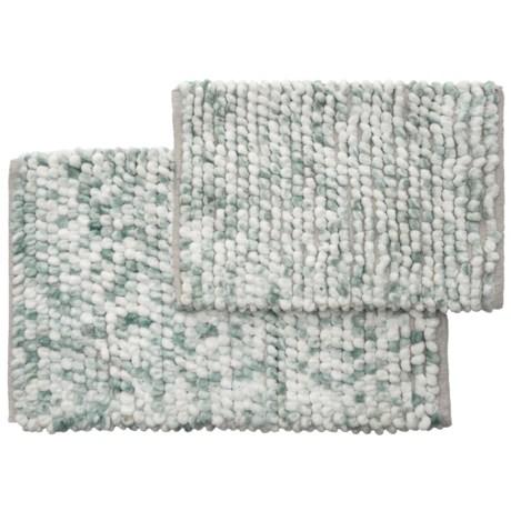 Vista Home Fashions Adelaide E Dyed Microfiber Bath Rug Set 21x34 17x24