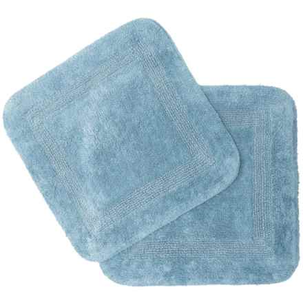 Vista Home Fashions Chalet Reversible Square Bath Mat Set - 2-Piece in Moon Stone - Closeouts