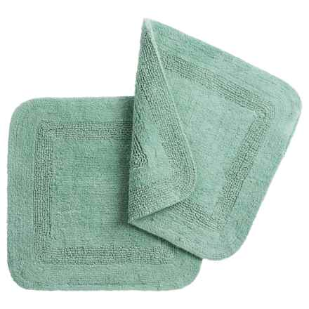 """Vista Home Fashions Chalet Square Bath Rugs - 21x21"""", Set of 2 in Sea Blue - Closeouts"""