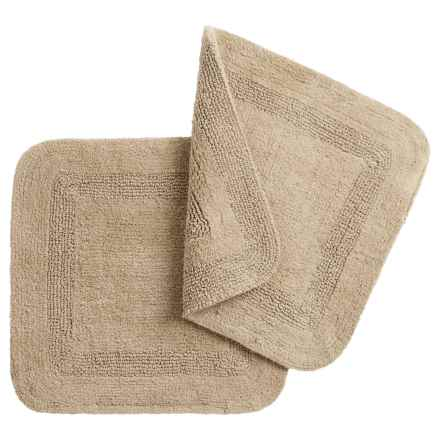 """Vista Home Fashions Chalet Square Bath Rugs - 21x21"""", Set of 2 in Taupe - Closeouts"""
