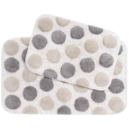 Vista Home Fashions Cotton Dot Bath Rug - Set of 2 in Natural/Grey/White - Closeouts