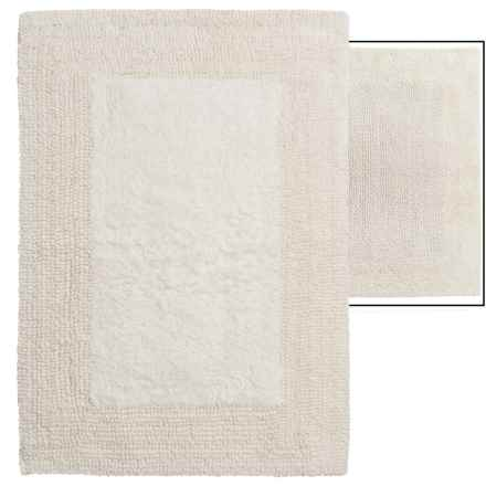 "Vista Home Fashions Euro Spa Reversible Cotton Bath Rug - 17x24"" in Ivory - Overstock"