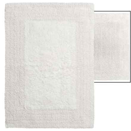 "Vista Home Fashions Euro Spa Reversible Cotton Bath Rug - 17x24"" in White - Overstock"