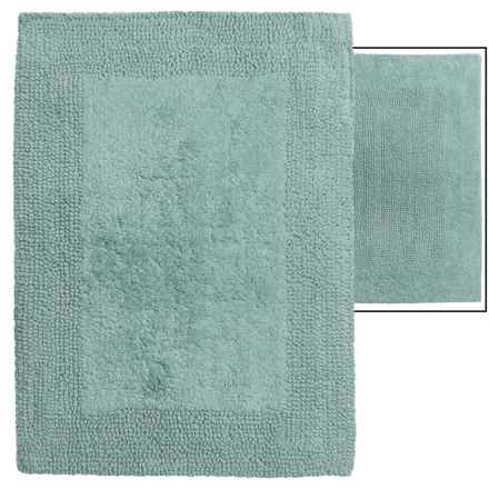 "Vista Home Fashions Euro Spa Reversible Cotton Bath Rug - 21x34"" in Sea Blue - Overstock"