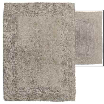 "Vista Home Fashions Euro Spa Reversible Cotton Bath Rug - 21x34"" in Taupe - Overstock"