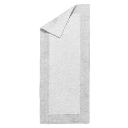 """Vista Home Fashions Grand Hotel Collection Euro Spa Cotton Bath Rug - 24x60"""" in White - Closeouts"""