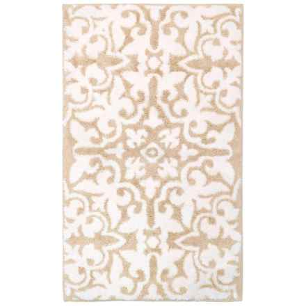 "Vista Home Fashions Grand Hotel Collection Lys Bath Rug - 21x34"" in Smoke Grey - Closeouts"