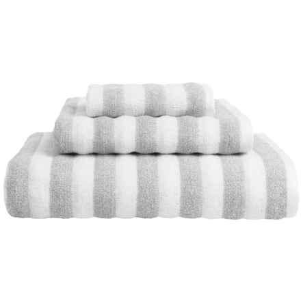Vista Home Fashions Napa Collection Washcloth - Turkish Cotton in White/Grey - Closeouts