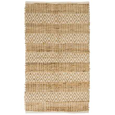 """Vista Home Fashions Natural Charms Jute Accent Rug - 2'3""""x3'9"""" in Diamond Weave - Closeouts"""