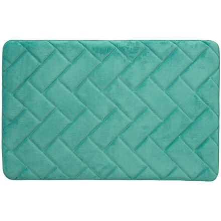 "Vista Home Fashions Pure Elements Gel Foam Bath Mat - 21x32"" in Aquifer - Closeouts"