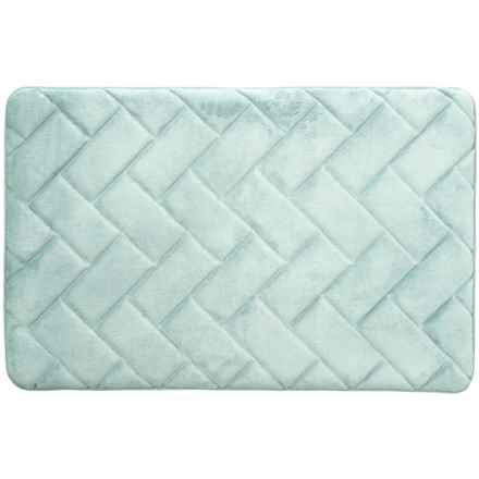 """Vista Home Fashions Pure Elements Gel Foam Bath Mat - 21x32"""" in Cerulean Blue - Closeouts"""