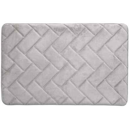 "Vista Home Fashions Pure Elements Gel Foam Bath Mat - 21x32"" in Grey - Closeouts"