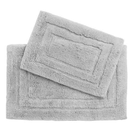 Vista Home Fashions Pure Plush Cotton Bath Rugs - Set of 2 in Mist Grey - Closeouts