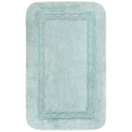 "Vista Home Fashions Renaissance Knit Border Bath Rug - 21x34"" in Ether - Closeouts"