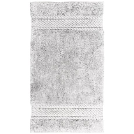 "Vista Home Fashions Shique Collection Twill-Woven Bath Rug - 21x34"" in White"