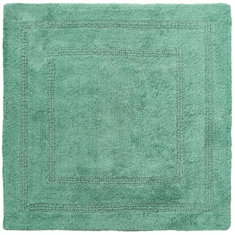 Vista Home Fashions Tranquil Reversible Square Bath Mat Set - 2-Piece in Nile Blue