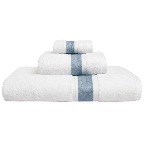 Vista Home Fashions Unique Collection Washcloth - Turkish Cotton in White/Blue