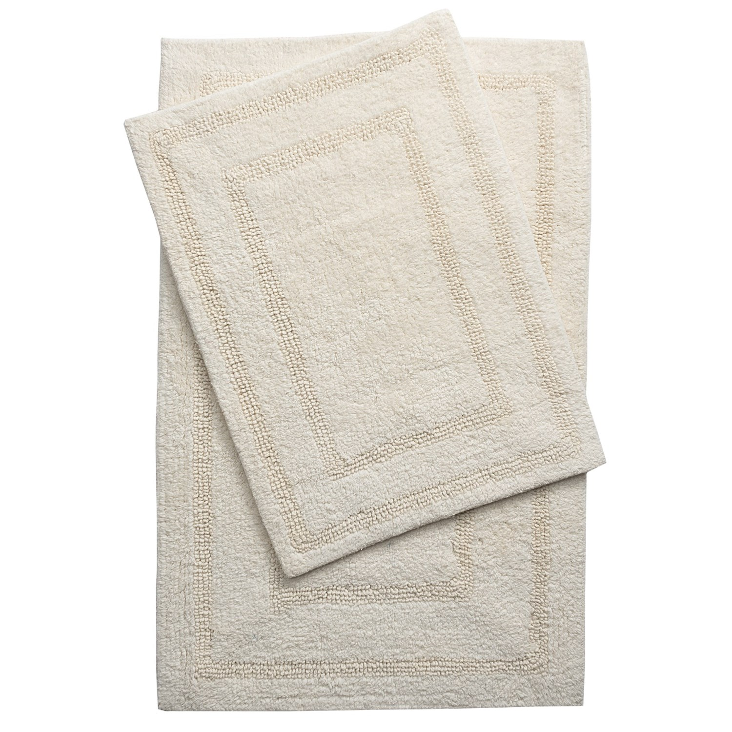 Vista home grand hotel collection tranquil cotton bath rug 21x34 17x24 reversible save 41 for Hotel collection bathroom rugs