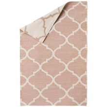 Vista Home Indoor/Outdoor Lattice Accent Rug - 2x3', Reversible in Beige - Closeouts