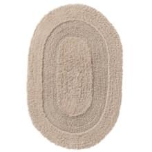 "Vista Home Oval Cotton Bath Rug - 21x34"", Reversible in Stone - Closeouts"