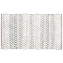 "Vista Home Palazzo Collection Reversible Bath Rug - 21x34"", Microfiber in Grey - Closeouts"