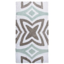 """Vista Home Resort Spa Bath Rug - 21x34"""", Canali Collection in Ice Flow/Frost Grey/White - Closeouts"""