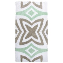"""Vista Home Resort Spa Bath Rug - 21x34"""", Canali Collection in Surf Spray/Moon Rock/White - Closeouts"""