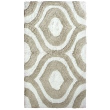 "Vista Home Resort Spa Bath Rug - 21x34"", Pauline Collection in Moon Rock/White - Closeouts"