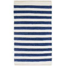 "Vista Home Rio Grande Cabana Stripe Chindi Rug - 2'3""x3'9"" in Navy - Closeouts"